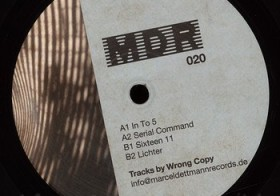 MDR 020 by Wrong Copy now available at Hard Wax